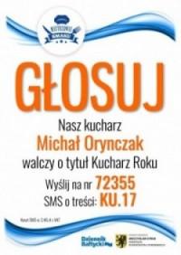 Michał kucharz roku - plakat
